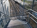 West stairs at West Newton station, April 2016.JPG
