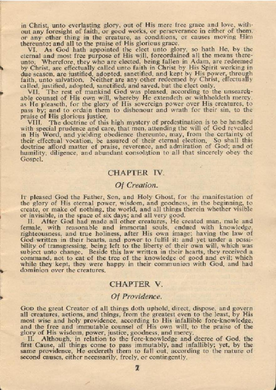 Westminster Confession Pdf