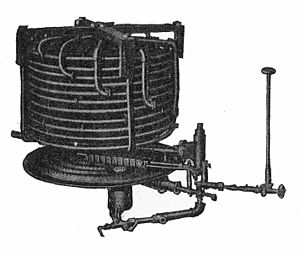Steam generator (boiler) - A monotube boiler, a type of steam generator (early 1900s White Motor Company)