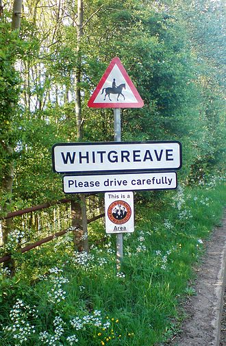 Whitgreave - Whitgreave village sign, May 2008