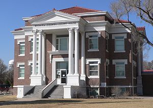 Wichita County courthouse in Leoti