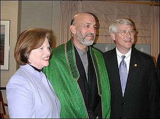 Roger Wicker - Then-Rep. and Mrs. Wicker visit with Afghan leader Hamid Karzai