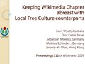 Wikimaina2009-Keeping Wikimedia Chapter abreast with Local Free Culture counterparts.pdf