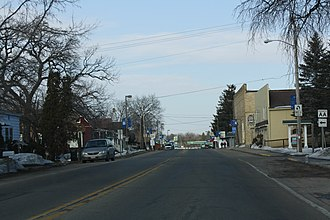 Wild Rose, Wisconsin - Image: Wild Rose Wisconsin Downtown WIS22