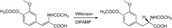 Asymmetrische Hydrierung mit dem Wilkinson-Katalysator