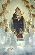 William-Adolphe Bouguereau The Virgin With Angels