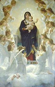 fc382d2644376 La Vierge aux anges (1900) de William Bouguereau