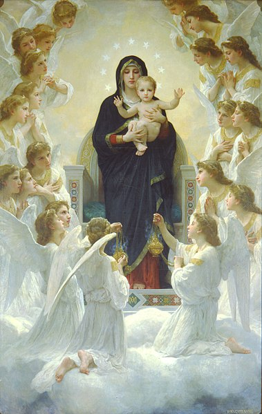 File:William-Adolphe Bouguereau The Virgin With Angels.jpg