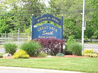 William A. Shine Great Neck South High School - The Sign of William A. Shine Great Neck South High School