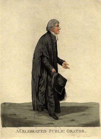 William Crowe (poet) - William Crowe, 1808 caricature by Robert Dighton