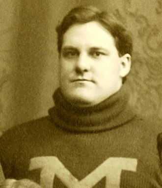 1899 Michigan Wolverines football team - All-American center William Cunningham faced Penn's Pete Overfield in 1899.