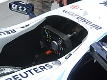 Photo du cockpit de la Willimas FW29