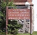Wilmington Lutheran Church sign - Arnegard North Dakota - 2013-07-04.jpg