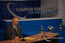wolfgang schuble bei einer rede auf einer konferenz 2011 - Wolfgang Schauble Lebenslauf