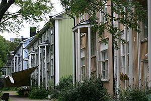 Vallila - Image: Wooden Vallila houses 1 2005 29 08