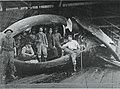 Workers processing whale at whaling station, Rose Habour, Queen Charlotte Islands (16983524868).jpg