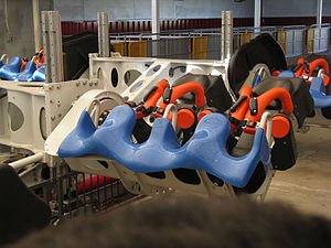 X2 (roller coaster) - One of the new trains during testing