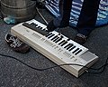 Yamaha PortaSound PS-20 with ABCS (Automatic Bass Chord System) playing with foot.jpg
