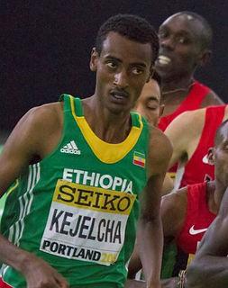 Yomif Kejelcha Ethiopian long-distance runner