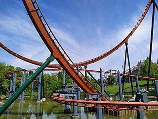 Yukon Striker roller coaster in Vaughan, Canada