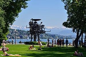 Jean Tinguely - Tinguely's Heureka in Zürich-Seefeld (Zürichhorn)
