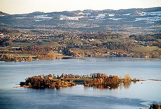 Canton of Zürich - Lake Zürich and the island of Ufenau, the largest in Switzerland