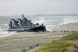 Zubr-class LCAC - Mordovia, a Russian Navy Zubr class, during Exercise Zapad-09