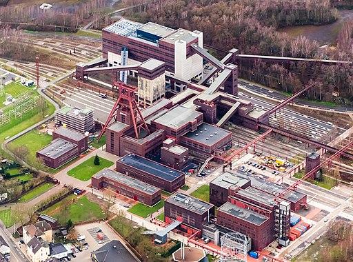 Zeche Zollverein Schacht 12 Luftaufnahme 2014
