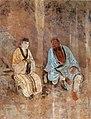Zhu Haogu's atelier. Zhongli Quan Instructing Lu Dongbin. completed by 1358. Chunyangdian, Yonlegong, Shanxi Province.jpg