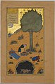 """How a Braggart was Drowned in a Well"", Folio 33v from a Haft Paikar (Seven Portraits) of the Khamsa (Quintet) of Nizami MET DP164652.jpg"