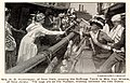 """""""Mrs H. O. Havermeyer of New York, passing the Suffrage Torch to Mrs. Van Winkle, of New Jersey."""" August 7, 1915.jpg"""