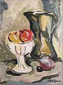 """Pitcher and Fruit"" by Nate Dunn, 1952.jpg"