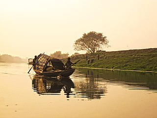 Tehatta Town in West Bengal, India