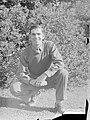 (Portrait of a man crouching on the grass) (AM 76765-1).jpg