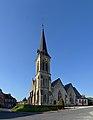 Église Saint-Germain du Breuil-en-Auge. Vue sud-ouest.jpg