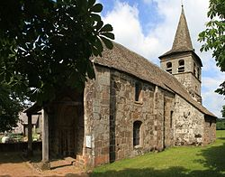 Église Saint-Martin (Saint-Martin-Cantalès) - Façade Sud.jpg
