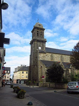 Crozon - The church of Saint-Pierre, in Crozon