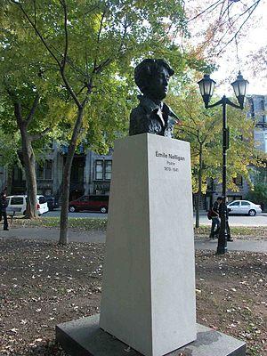 Émile Nelligan - Émile Nelligan bust, Saint-Louis Square, Montreal