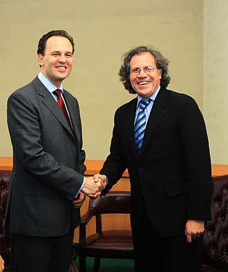 Greece–Uruguay relations - Greek and Uruguayn Foreign Ministers Dimitrios Droutsas and Luis Almagro meeting in New York City, 2010.