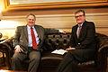 Συνάντηση Υπουργού Εξωτερικών Νίκου Κοτζιά με τον Πρέσβη της Γερμανίας Peter Schoof, Υπουργείο Εξωτερικών, 6.2.2015 (16269940567).jpg