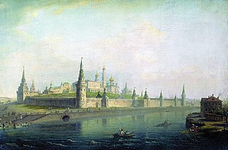 View of the Moscow Kremlin (from the Kamenny Bridge)