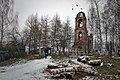 Возле ограды Воскресенской церкви, после первого снега.jpg