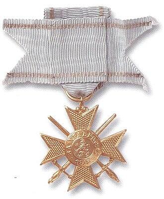 "Orders, decorations, and medals of Bulgaria - Image: Войнишки знак на ордена ""За Храброст"" I степен, емисия 1915 г. (аверс)"