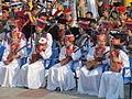 Домбристки в калмыцких национальных костюмах, 14.06.2015, во время концерта сводного оркестра домбристов Калмыкии.jpg