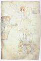 Жінки-мироносиці, янгол і поснула варта. Мініатюра Лавришівського євангелія.png