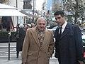 دکتر خوانساری دبیر کل موج سبز و بهزاد معصومی در پاریس.jpg