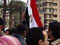 علم جمهورية مصر، مظاهرة، 1 فبراير 2011.jpg