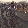 لحظة إستقبال القوات المساندة لعاصفة الحزم بقرية مراح الذئاب.jpg