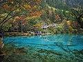 五花海 - Five-Colored Lake - 2011.10 - panoramio.jpg