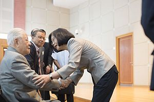 Lee Teng-hui - Lee meeting Taiwanese President Tsai Ing-wen in 2016